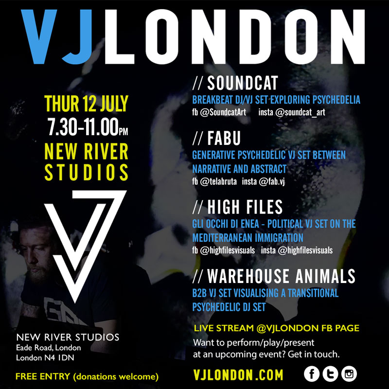 VJ London July 2018 - poster